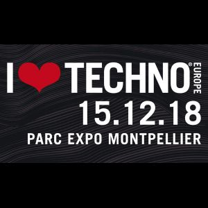 Illustration I Love Techno le 15 décembre 2018 au Parc des Expositions de Montpellier / Pérols